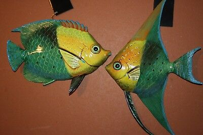 2 Seafood Restaurant Fish Decor Tropical Fish Wall Hangings 106224