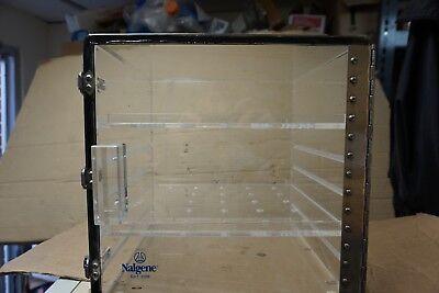Nalgene  Acrylic Box Dry Product Storage Dessicator Dryerite Cabinet 12x12