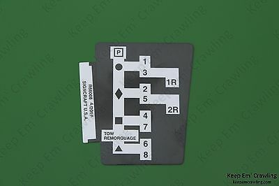 John Deere R66008 Syncro-range Shift Pattern Decal 4030 4230 4430 4630 4040 4240