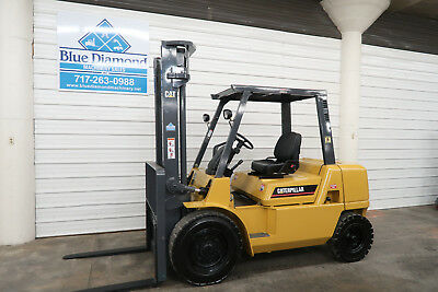 2004 Cat Gp40k 8000 Pneumatic Tire Forklift Gas Engine Two Stage 3 Way