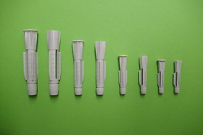 1 St. Universaldübel Sortiment / Set 350 tlg. Kunstst. 5-10 mm mit / ohne Kragen
