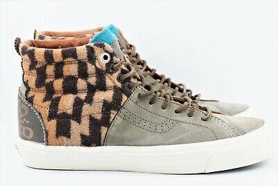 Vans X Pendleton SK8 Hi Huarache LX Mens Size 9 Skate Shoes Grey Saddle - Saddle Shoes Vans