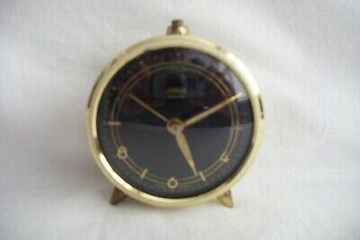 Vintage Wehrle West German Jewelled Alarm Clock.