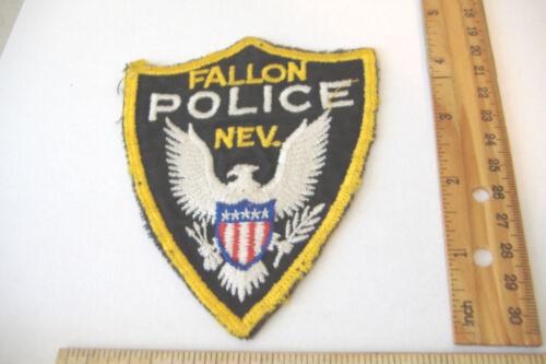 ~FALLON POLICE~NEVADA~FABRIC PATCH~