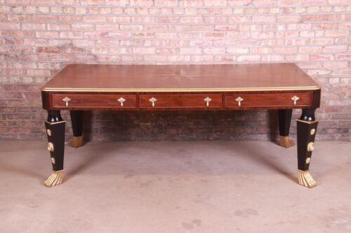 Restored Antique English Empire Rosewood Partner Desk, Circa 1820s