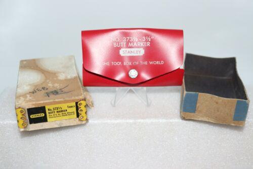 Vintage Stanley No. 373 1/2-3 1/2 Butt Marker USA