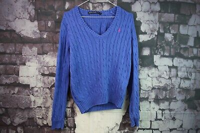 Womens Ralph lauren Blue Jumper Size M No.C693 3/11