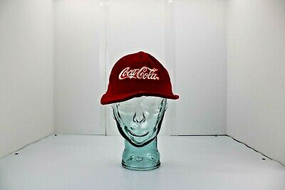 Vintage Red Corduroy Enjoy Coca-Cola Adjustable Trucker Cap Hat Snap Back