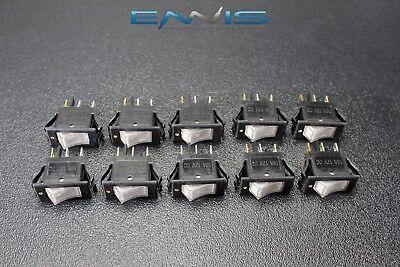 10 Pcs Rocker Switch On Off Mini Toggle White Led 12v 16 Amp Ec-1220wh