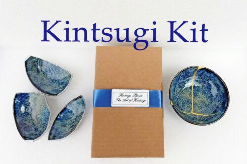 Kintsugi Repair Kit. GOLD AND SILVER POWDER