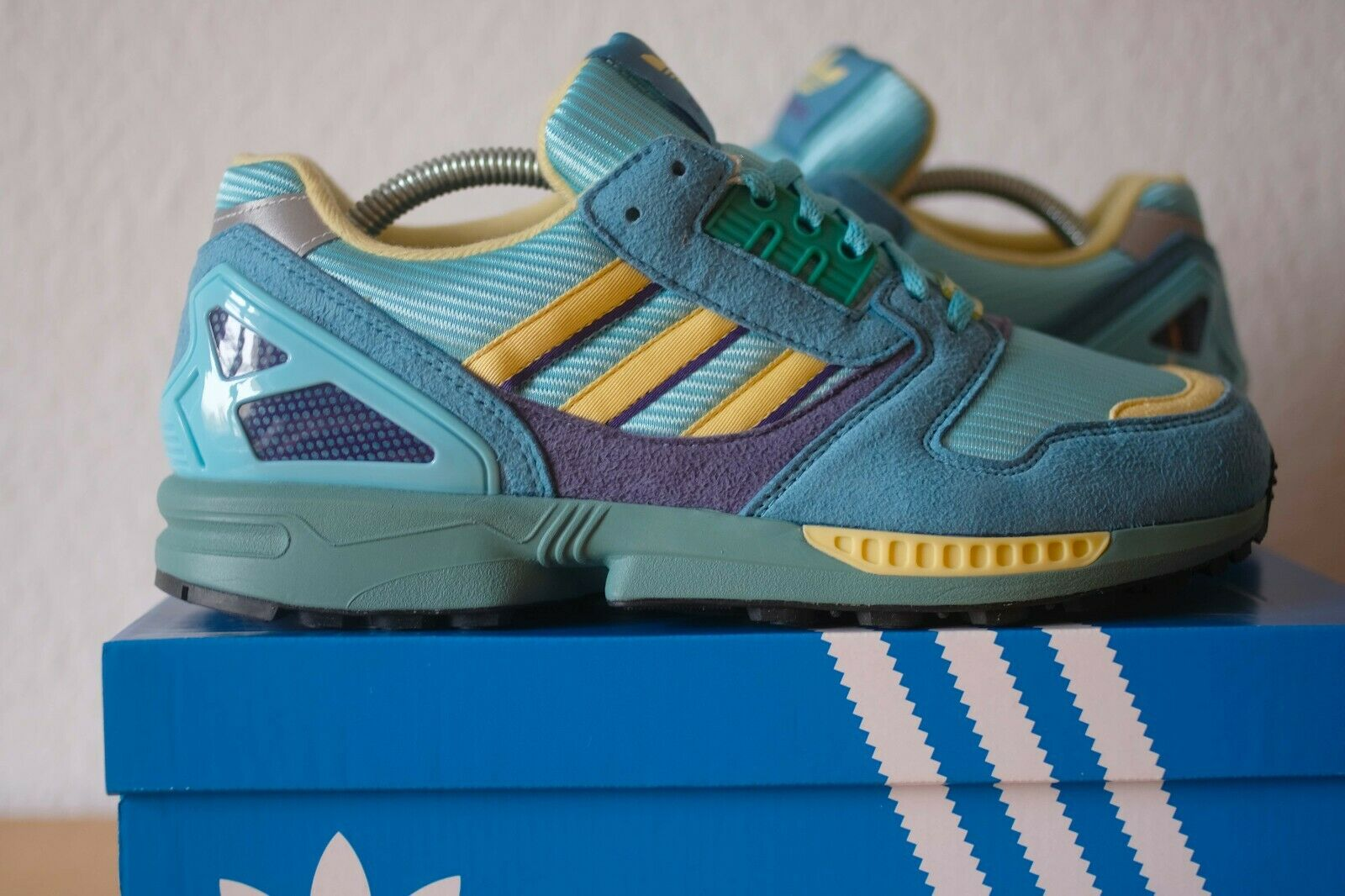 Adidas ZX 8000 Consortium EE4754 light aqua 43 13 9 9.5 9000 5000 Torsion