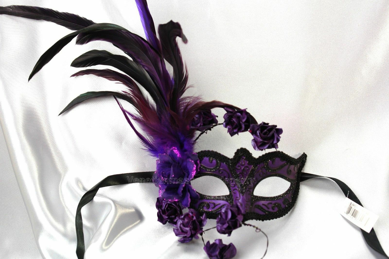 Flower Feather midnight party dress up Masquerade Ball Halloween ...