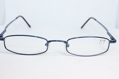 Oriel Shiny navy eyewear glasses frame spectacles blue small square