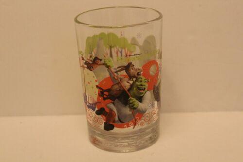 McDonalds Dreamworks Shrek the Third Glass Collector Cup Donkey Shrek