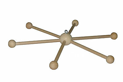 Holzmobile Ø 30 cm Mobilestern Mobilekreuz Mobile Stern Kreuz Babywiege Baby neu