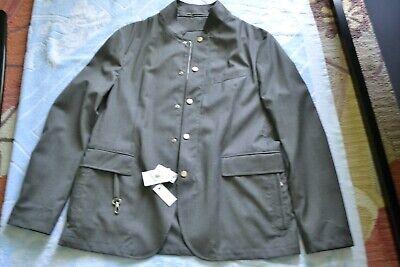 ELEVENTY Slim Fit Full Zip Snap Jacket Brand new Size XL Gray
