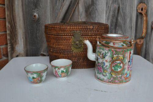 Antique Chinese Famille Rose Mandarin Tea Set 18th / 19th Century
