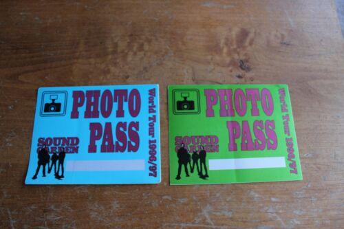 Soundgarden - 2 x unused Backstage Pass - Lot #11 - FREE POSTAGE