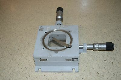 Optical Stage 5 12 X 4 14 Approx. W Steinmeyer Micrometers