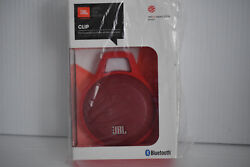 JBL Clip Wireless Bluetooth Portable Travel Speaker w/ Integrated Carabiner -Red