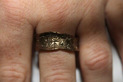 Men Vintage Fashion Abstract Rough Cut Ring Brass Band Jewelry Hippie](Mens Hippie Jewelry)