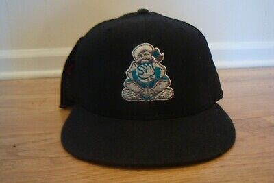 3185d4bd3c8 VTG Edmonton Trappers New Era 7 hat cap Minor League retro 90s Wool fitted  RARE