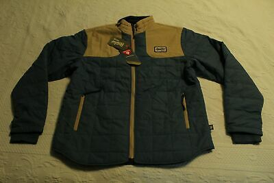 Howler Brothers Men's Full Zip Merlin Jacket KB8 Mid Blue/Khaki Large NWT
