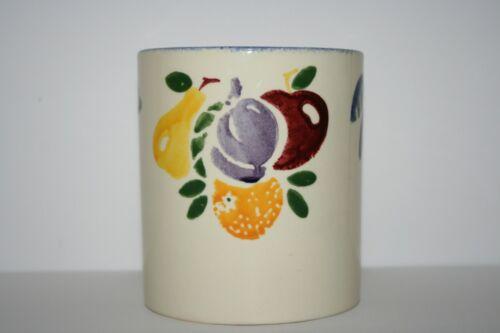 Poole Pottery England Hand Painted Fruit Canister Vase Utensil Holder Crock