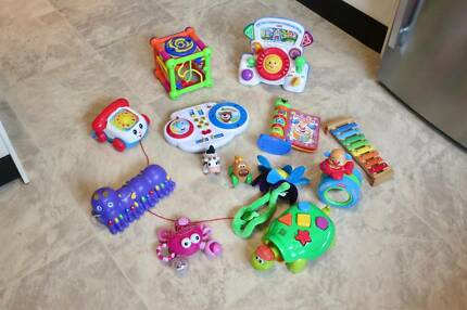 Bundle of baby toys, incl V Tech, Fisher Price