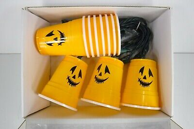 Solo Cup Lights (Halloween Party Solo Cup String Lights Jack-O-Lantern)