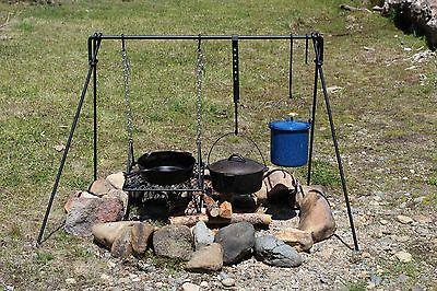 Folding Campfire Cooking Set BBQ Grill for Cookware & Dutch Oven *FREE SHIPPING*