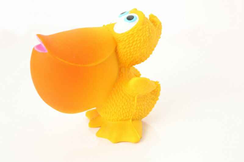 100% Natural Rubber Pelican Baby Teether Sensory Bath Time Toy RRP $19.95
