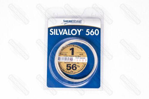 Lucas Milhaupt 98060 SILVALOY 560, 56% Silver, 1 Troy Oz.