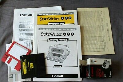 Canon Starwriter Guide 3-disk Ink-cartridge Persona Publishing System Typewriter