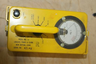 Landers Radiological Survey Meter Cdv-715 Geiger Counter
