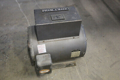 15hp Baldor Phase-a-matic 3-phase Rotary Phase Converter