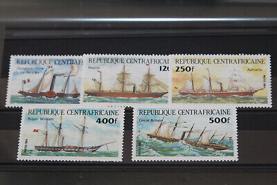 CENTRAL AFRICAN REP 1984 - TRANSPORT - SHIPS - SET OF 5 - MINT