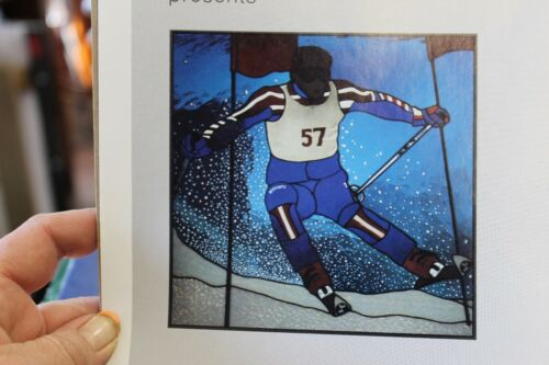 Skier Stained Glass Pattern by Carolyn Kyle CKE-167