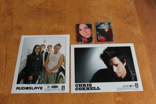 Audioslave Chris Cornell - 2 x Promo Publicity Photo + Laminated Backstage Pass