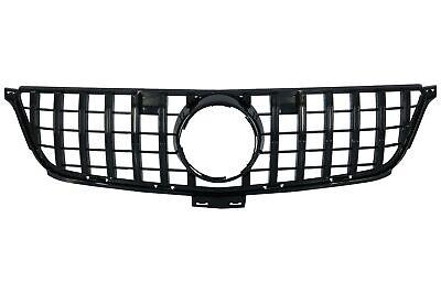 Kühlergrill für MERCEDES W166 ML 12-15 GT-R Panamericana Look Glänzend Schwarz