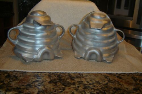 Martha Stewart by Mail 3D Heavy Cast Aluminum Beehive Cake Pan Mold 2 Piece