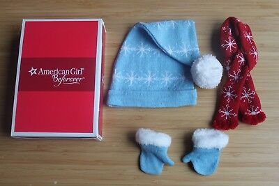 American girl set 3 of Hat scarf gloves 18'' doll accessories New in box