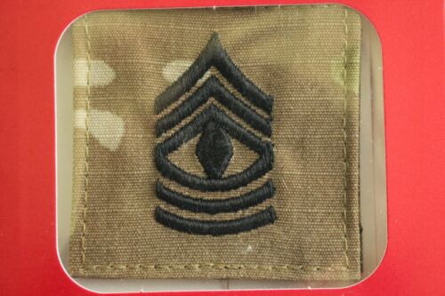 US ARMY GI MULTICAM OCP E-8 1SG HOOK BACK CAMOUFLAGE CAMO UNIFORM RANK PATCH