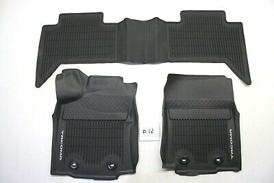 OEM Black All Weather Front Rear Floor Mats Toyota Tacoma CREW CAB 2016-2020 (2016 Toyota Tacoma All Weather Floor Mats)