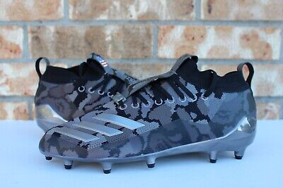 Men's Adidas Bape Adizero Football Cleats A Bathing Ape Black Grey Size 9 EE7074