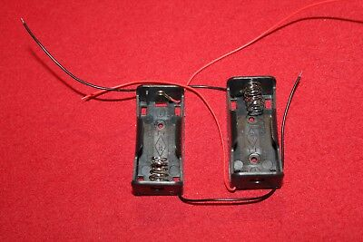 2 X Lot C Cell 1.5v Volt Battery Holder Mount Case Wire Lead Part Adapter Test