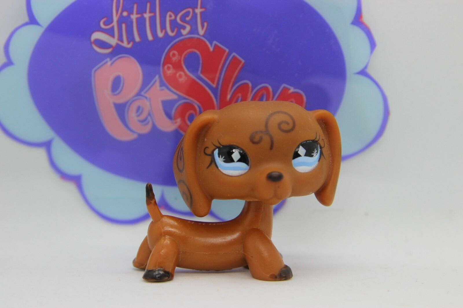 Authentic lps teckel 640 dachshund petshop pet shop dog chien hasbro