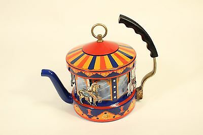 Kamenstein World Of Motion Steam Driven Merry Go Round Carousel Tea Pot Kettle
