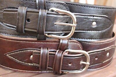 NEW Handmade Western Smooth Leather 44/45 cal Cartridge Belt RIG Gun Ammo 34-52
