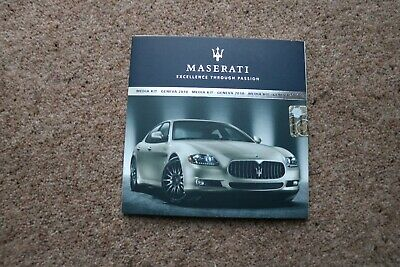 MASERATI QUATTROPORTE SPORT GT S 'AWARDS EDITION' LAUNCH PRESS KIT BROCHURE